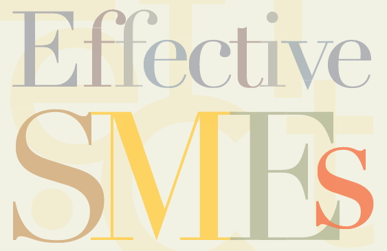 Preview the First Chapter of Effective SMEs!